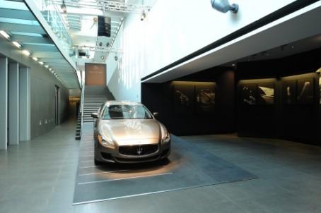 Der Maserati in der Zegna-Zentrale in Mailand