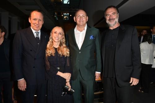 Gildo Zegna, Franca Sozzani, John Dempsey und Fabrizio Ferri bei der Präsentation von One of 100