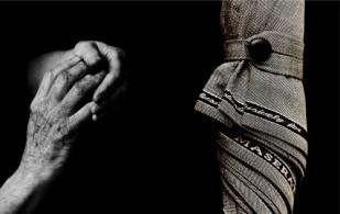 Hände von Landschaftsgestalter Paolo Perrone