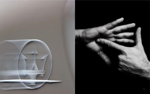 Hände von Entrepreneur Matteo Panini