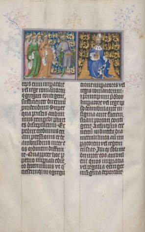 Kaiser, König und Königin von Böhmen mit Gefolge
