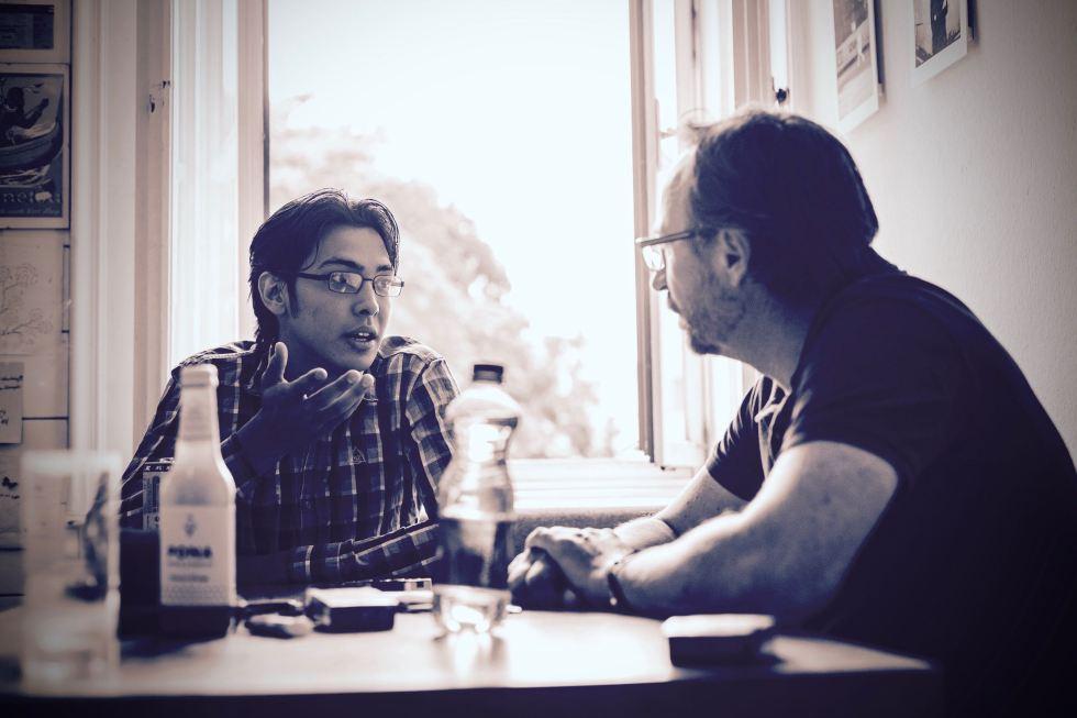 Borhan im Gespräch mit dem Autor /// Bild: Marco Rossi