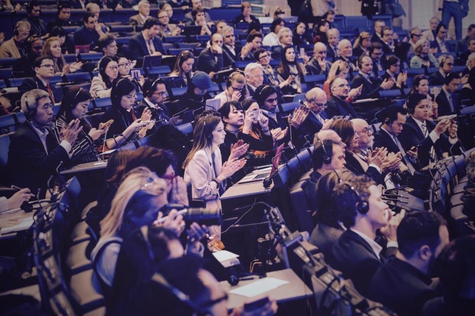 Großer Andrang bei der Eröffnungspressekonferenz der Baselworld